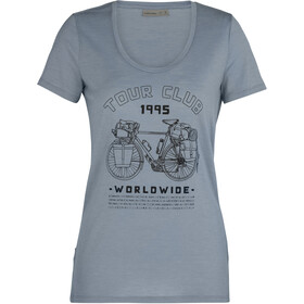 Icebreaker Tech Lite SS Crew Shirt Tour Club 1995 Women, gravel